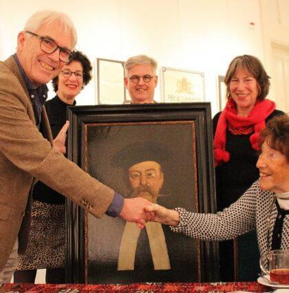 Familie Henri Wertenbroek schenkt schilderij 'De Bef '